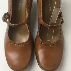 Naturalizer Leather Mary Jane Pumps Heels 7 N